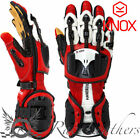 KNOX HANDROID RED HAND ARMOUR EXOSKELETON KANGAROO PALM MOTORCYCLE GLOVES