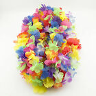 50 Pc Simulated Colorful Faux Silk Party Luau LEIS Hawaiian Party Favors Decor
