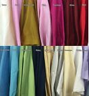 "Poly Silk Dupioni Fabric 100% Polyester 57"" Wide Tablecloth Curtain"