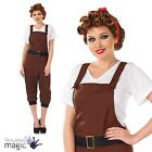 Ladies Womens WW2 Land Girl Fancy Dress World War 2 1940s Costume Army Outfit BN