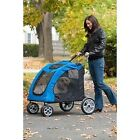 Pet Gear Expedition Pet Strollers fold flat and hold pet up to 150#