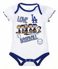MLB Infants Los Angeles Dodgers Peanuts Love Baseball Creeper, White on Ebay