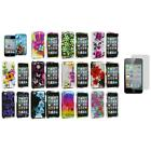 Flower Design Case Cover Accessory+3X LCD Protector for iPod Touch 4th Gen 4G 4