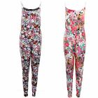 Women's All in one Stretch Floral Multi Colour Adjustable Strap Ladies Jumpsuit