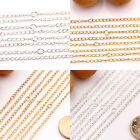 Wholesale 10/50Pcs Gold/Silver Plated Filigree Metal Chain Necklace Making 3x2mm