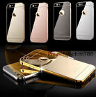 IPhone 8 Luxury Aluminium Mirror Case i Phone Cover for Apple 7 6+ 6s 5c 5 SE