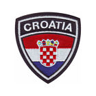 CROATIA CREST FLAG EMBROIDERED PATCH