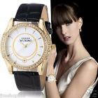 Luxury Women's Watches Ladies Leather Stainless Steel Analog Quartz Wrist Watch