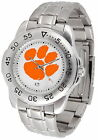 Clemson Tigers Sport Watch Steel Band White Dial Ladies or Mens
