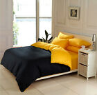 100% Cotton Yellow And Black Bedding Quilt Duvet Cover Pillowcase Set All Sizes