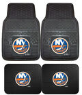 New York Islanders Car Mats 4 Pc Front & Rear Heavy Duty Vinyl