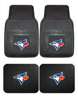 Toronto Blue Jays Car Mats 4 Pc Front and Rear Heavy Duty Vinyl