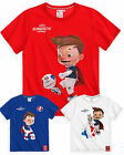 Boys Short Sleeved Euros 2016 T-Shirt New Kids Official UEFA Top Ages 4-10 Yrs