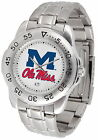 Ole Mississippi Rebels  Sport Watch Steel Band White Dial Ladies or Mens