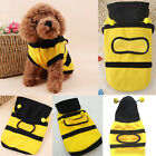 1X Bee Pet Dog Cat Cute Hoodie Clothes Apparel Dog Coat Fancy Contume Yellow