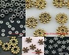 DIY Tibetan Antique Silver Flower Daisy Spacer Beads Findings 6mm/7mm/8mm