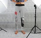 Grey Marilyn Monroe Womens Spandex Leggings Gym Yoga Fashion Fitness Made In Uk