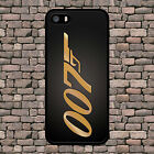 JAMES BOND 007 GOLD BACK PHONE CASE IPHONE 4 4S 5 5S SE 5C 6 6S 7 8 PLUS X £8.99 GBP
