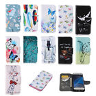 Luxury Painting Leather Folio Wallet Case Cover For Samsung galaxy Phones 45 D