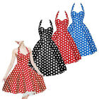 Womens Retro Vintage Swing Pinup Housewife 50's 60's Rockabilly Prom Party Dress
