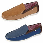 Duke D555 Claude Mens Slip On Shoes King Size Boat Moccasin Suede PU Leather