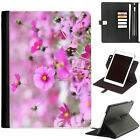 Floral Print Flowers Luxury Apple ipad 360 swivel i pad leather case cover with