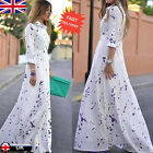 Women Sexy Summer Boho Long Maxi Beach Evening Party Dress Lady Chiffon Dresses