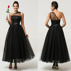 Stock Long Womens Bridesmaid Dress Formal Party Cocktail Evening Prom Ballgown