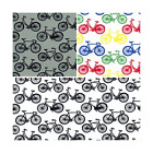 Push Bikes Cycling Bicycles Transport 100% Cotton Poplin Fabric Patchwork