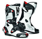 SIDI MAG 1 MOTORCYCLE BIKE SPORTS RACE BOOTS WITH MAGNETIC FASTENERS BLACK WHITE