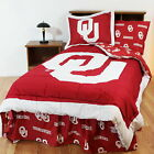 Oklahoma Sooners Comforter Sham & Throw Blanket Twin Full Queen King Size