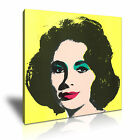 Elizabeth Taylor Andy Warhol Icon Modern Wall Art Canvas