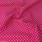 CERISE PINK POLKA DOT 100% cotton fabric  per FQ, half metre or metre