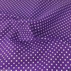 PURPLE colour POLKA DOT 100% cotton fabric  per FQ, half metre or metre