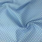POWDER BLUE colour POLKA DOT 100% cotton fabric  per FQ, half metre or metre