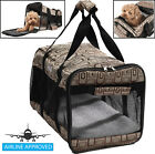 Airline Approved 'Flightmax' Lightweight Collapsible Travel Pet Dog Carrier Bag