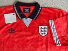 XL ENGLAND 1990 UMBRO SHIRT JERSEY football Italy World Cup Soccer NEW TAGS