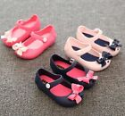 UK Baby Kids Girls Children sandals bow fish head jelly sandals shoes Size 7-11