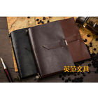 2in1 Vintage Leather A6 Notebook Ruled Diary Travel Journal Removable HandBook
