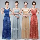 Women Lace Sleeveless Evening Party Gown Wedding Bridesmaids Bridal Long Dress