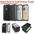 Heavy Duty Tuff Tank Hybrid Armor Hard Stand Full Case For Iphone5/5S/SE/6/6+