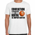 grabmybits - Education is Important, Basketball is Importanter T Shirt, Sport