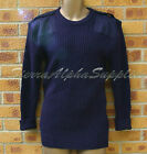 MOD RN SURPLUS BLUE COMBAT JUMPER,ROYAL NAVY WOOLLY PULLOVER REINFORCED ELBOWS