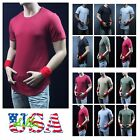 Men's T-Shirt Long Extended Casual Hip Hop Crew Neck Fashion Casual Tee Zipper