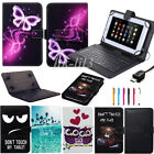 PU Leather Case Cover with Micro USB Keyboard For 7