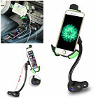 360 Rotation 3 USB Car Cradle Charging Cigarette Lighter Holder Mount For Phone