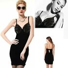 Punk Heavy Metal S&M Studded Spikes Bodycon Clubbing Rock Roll Biker Mini Dress