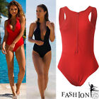 Sexy Women Bikini Bandage High Waist Swimsuit One Piece Monokini Beach Swimwear