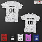 Bonnie & Clyde Couples Gifts Cotton T Shirts tshirts ALL COLOURS AND SIZES