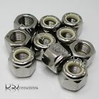 UNF - A2 Stainless Steel Hexagon Nylon Insert Nyloc Nuts.